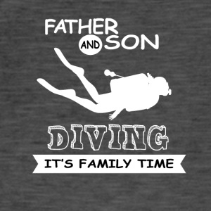 Father And Son - Diving - Men's Vintage T-Shirt
