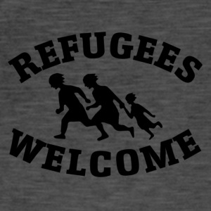 Welcome refugees - Männer Vintage T-Shirt