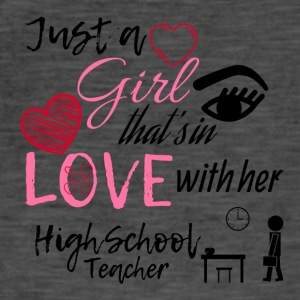 A girl who is in love with her highschool teacher - Men's Vintage T-Shirt