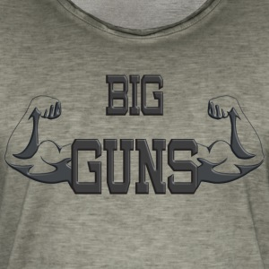 Big Guns - Vintage-T-skjorte for menn