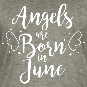 Angels are born in June - Men's Vintage T-Shirt