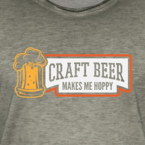 Craft Beer Makes Me Hoppy - Miesten vintage t-paita