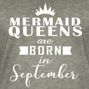 Mermaid Queens september - Vintage-T-skjorte for menn
