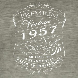 Premium Vintage 1957 60 years of awesomeness - Men's Vintage T-Shirt