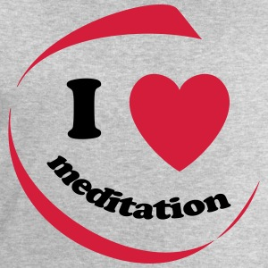 I love meditation - Men's Organic Sweatshirt by Stanley & Stella