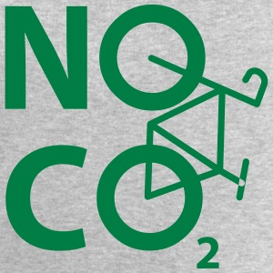 NO CO2 - cyclist and cyclist design - Men's Organic Sweatshirt by Stanley & Stella