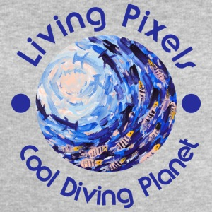 Living pixel Cool Planet Diving, Diving - Mannen bio sweatshirt van Stanley & Stella