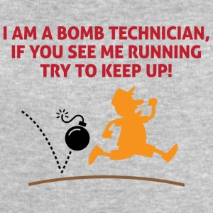When A Bomb Squads Running, Follow Him! - Men's Organic Sweatshirt by Stanley & Stella