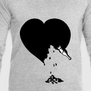 destroyed heart - Sweat-shirt Homme Stanley & Stella