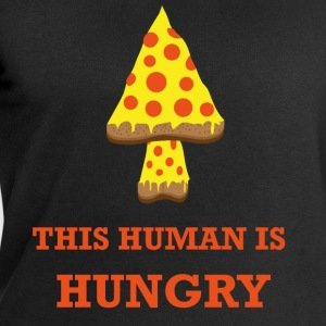 PIZZA THIS HUMAN IS HUNGRY - Men's Sweatshirt by Stanley & Stella