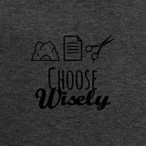 Rock paper scissors choose wisely - Men's Sweatshirt by Stanley & Stella