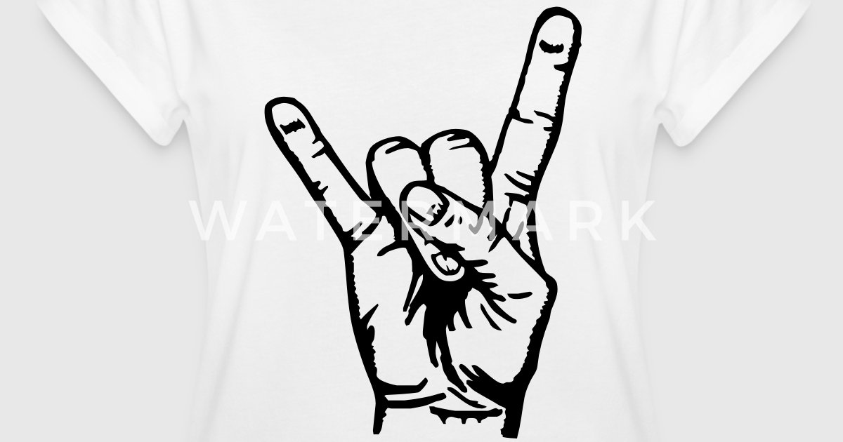 devil hand pommesgabel rock metal festival by cheesyb