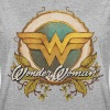 DC Comics Wonder Woman Logo mit Ranken - Frauen Oversize T-Shirt