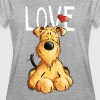 I love my Airedale Terrier - Gift - Dog - Cartoon - Women's Oversize T-Shirt
