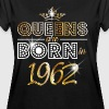 1962 - Birthday - Queen - Gold - EN - Camiseta holgada de mujer