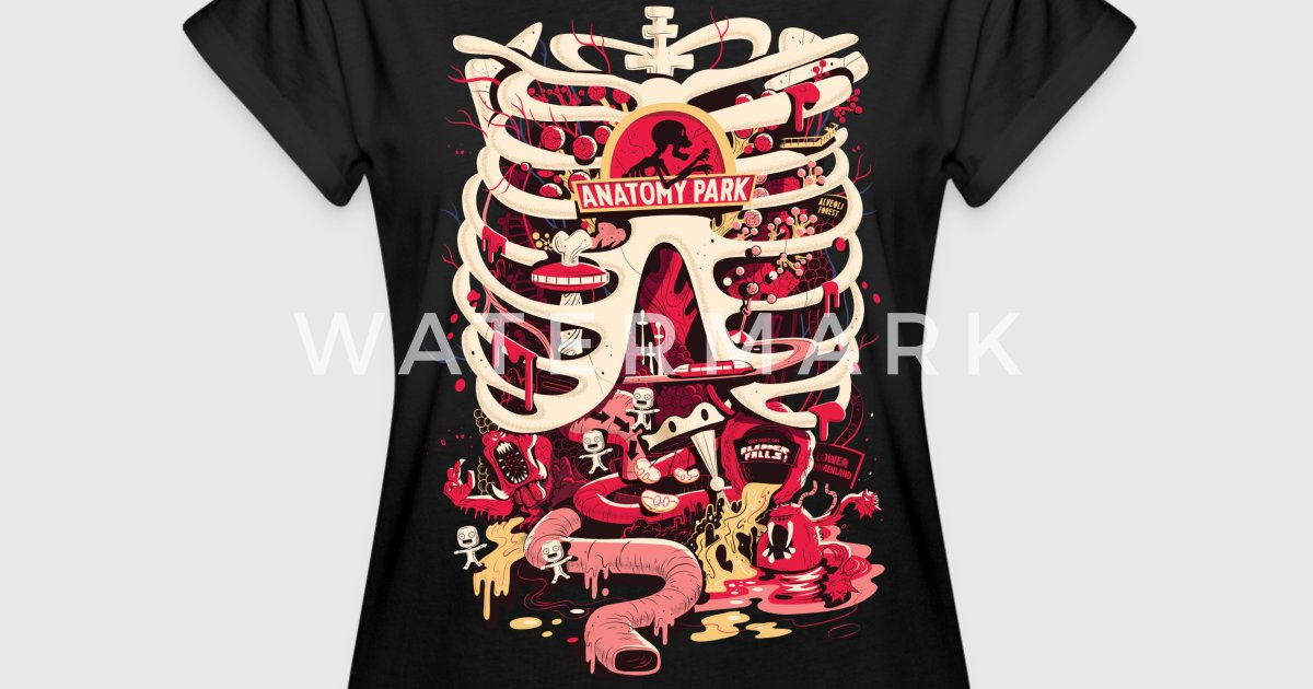 Rick And Morty Anatomy Park Skeleton By Rickandmorty Spreadshirt