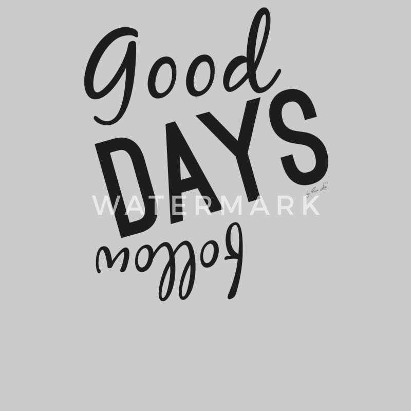Geschenkidee Pullover & Hoodies - Good DAYS follow - Unisex Kapuzen-Sweatshirt Grau meliert
