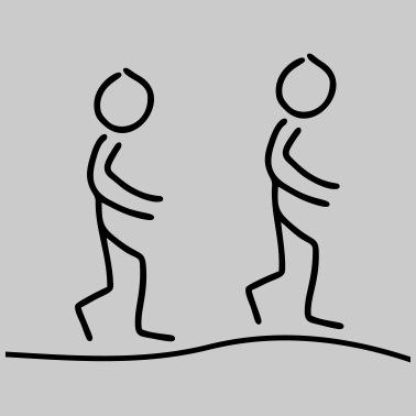 Strichmännchen Laufend