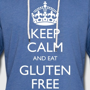 Keep Calm And Eat Glutenfri - Lett unisex hette-sweatshirt