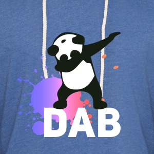 dab spatter panda dabbing touchdown fun cool LOL - Light Unisex Sweatshirt Hoodie