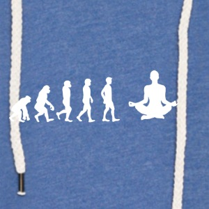 EVOLUTION yoga meditation - Light Unisex Sweatshirt Hoodie