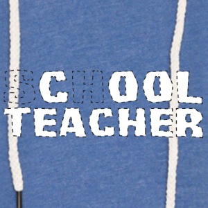 Professeur / École: cool Teacher - Sweat-shirt à capuche léger unisexe