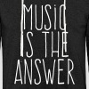 music is the answer - Felpa con cappuccio leggera unisex