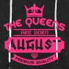 august born queens crown logo - Light Unisex Sweatshirt Hoodie