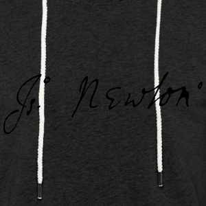 Isaac Newton signature - Light Unisex Sweatshirt Hoodie
