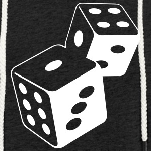 Two Dice At The Casino - Sweat-shirt à capuche léger unisexe