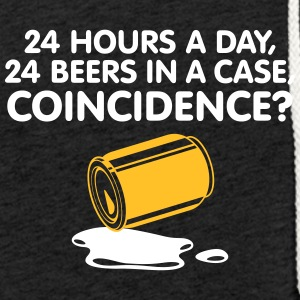 24 Hours A Day ,24 Beers In A Case,Coincidence? - Light Unisex Sweatshirt Hoodie