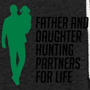 Father And Daughter Hunting Partners - Leichtes Kapuzensweatshirt Unisex