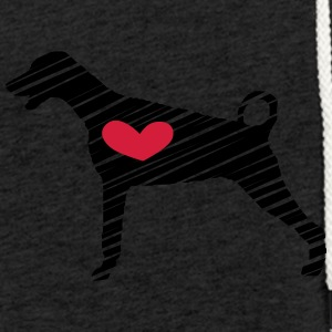 Doberman - Coeur - Art - Sweat-shirt à capuche léger unisexe