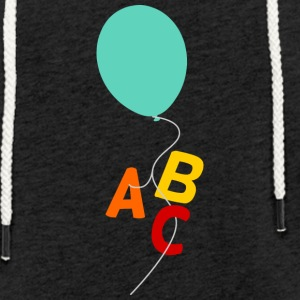 Balloon with letters - Light Unisex Sweatshirt Hoodie