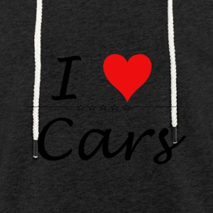 I Love Cars - Light Unisex Sweatshirt Hoodie