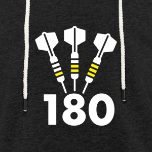 Darts: 180 - Sweat-shirt à capuche léger unisexe