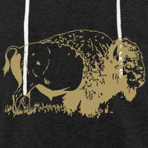 Animals Bison - Light Unisex Sweatshirt Hoodie