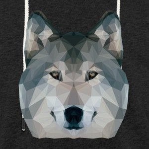 Loup Low Poly - Sweat-shirt à capuche léger unisexe