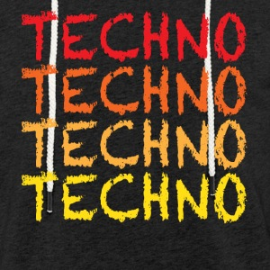 Techno - Sweat-shirt à capuche léger unisexe