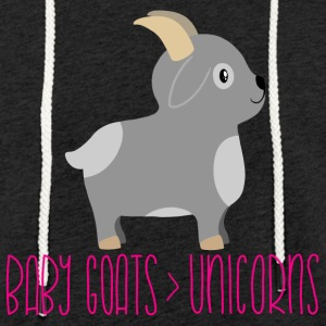 Baby goats are better than unicorns - Leichtes Kapuzensweatshirt Unisex