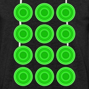 Retro Circles, green - Light Unisex Sweatshirt Hoodie
