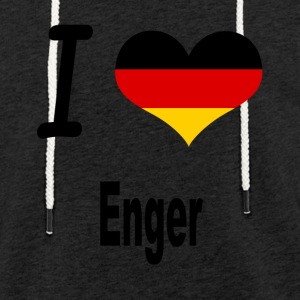 I Love Germany Home Enger - Leichtes Kapuzensweatshirt Unisex
