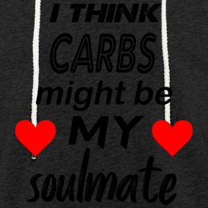 carbs are my soulmate - Light Unisex Sweatshirt Hoodie