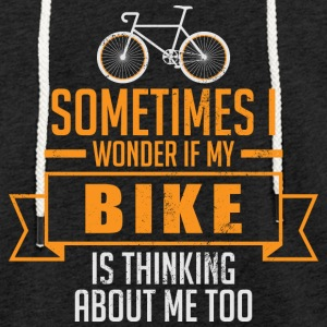 My Bike thinking about me - Light Unisex Sweatshirt Hoodie