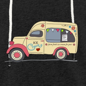 vintage ice cream van - Light Unisex Sweatshirt Hoodie