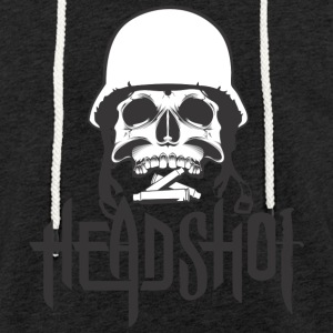 Skull headshot and monition - Light Unisex Sweatshirt Hoodie