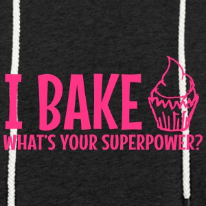 Jeg bake whats your supermakt / I bake - Lett unisex hette-sweatshirt