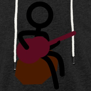 Stickman musician - Light Unisex Sweatshirt Hoodie