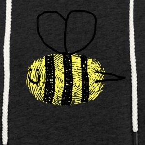 Glad Queen Bee - Lett unisex hette-sweatshirt