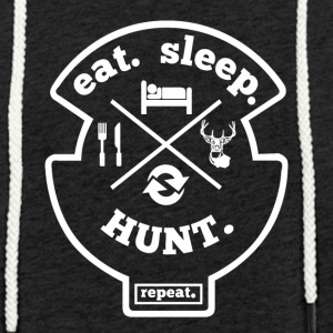 Eat Sleep Hunt Gjenta Hobby Sport Shirt - Lett unisex hette-sweatshirt